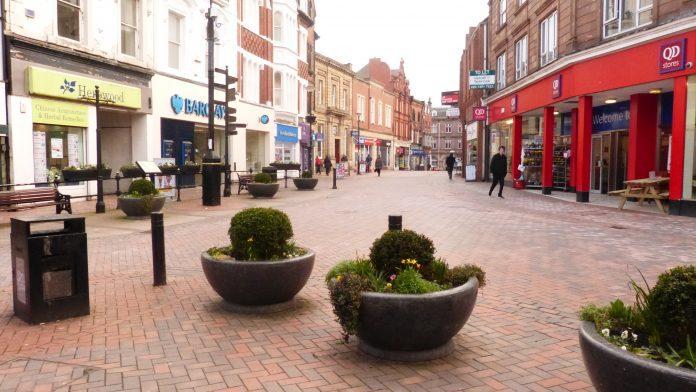 Coronavirus Wrexham town centre