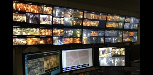 CCTV control room Wrexham