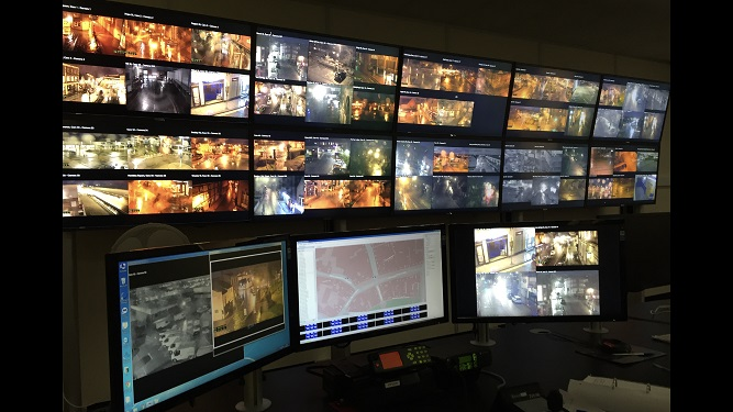 CCTV control room Wrexham