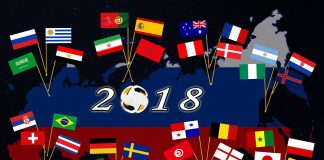 world cup flags 2018