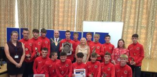 Wrexham school boys football champions