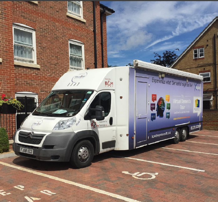 virtual dementia tour bus