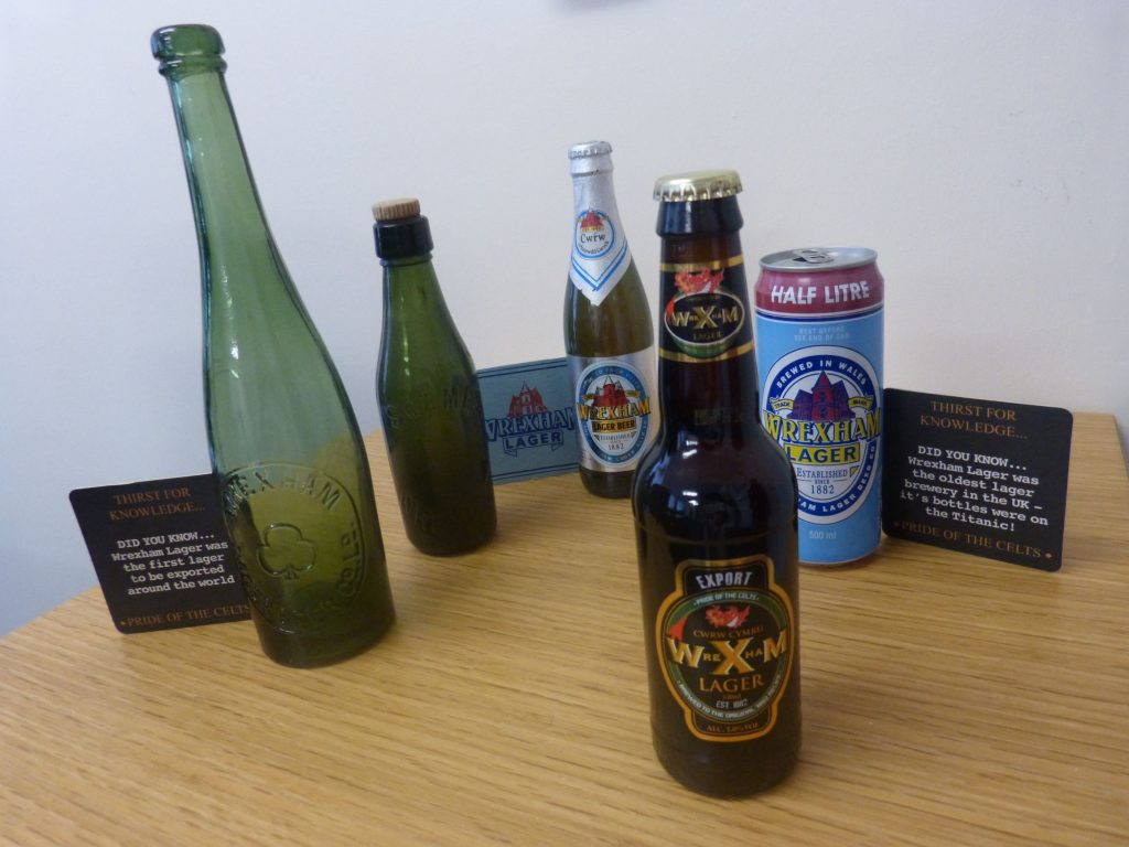Old Wrexham Lager bottles