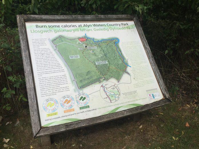 Walking Country Park Alyn Waters