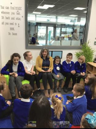 Children's author Eloise Williams visits Wrexham schools