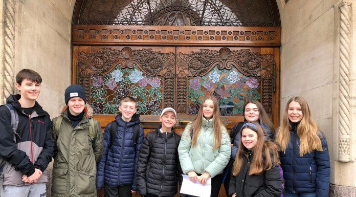 Ysgol Bryn Alyn pupils on their recent trip to Denmark