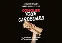 Conquer your cardboard…Be Mighty. Recycle.