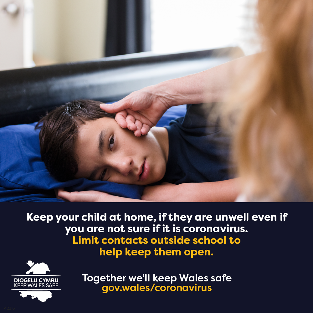 Keep your child at home if they feel unwell,