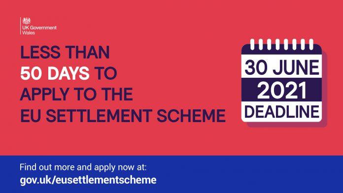 Less than 50 days to apply to EU settlement scheme