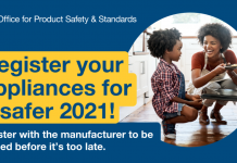Register your appliances for a safer 2021