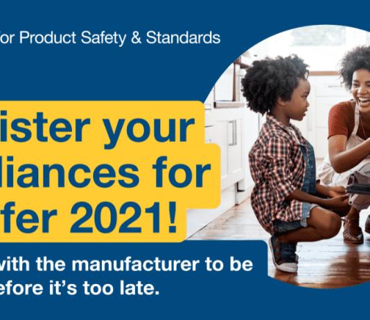 Register your appliances for a safer 2021