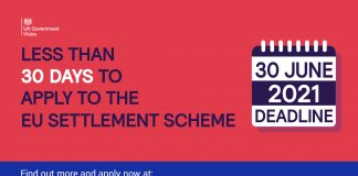 Less than 30 days to apply for EU Settled Status