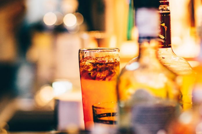 Bar with drinks