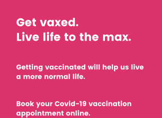 Get vaxed to live life to the max.